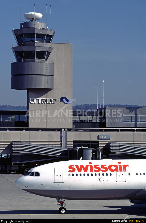 Swissair HB-IQE aircraft at Zurich