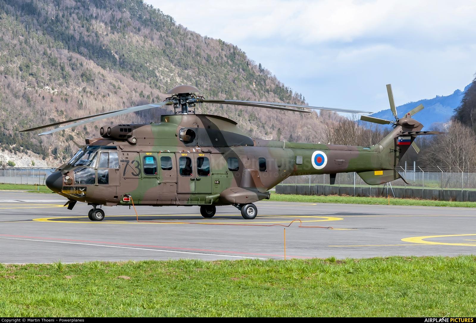 Slovenia - Air Force H3-73 aircraft at Alpnach