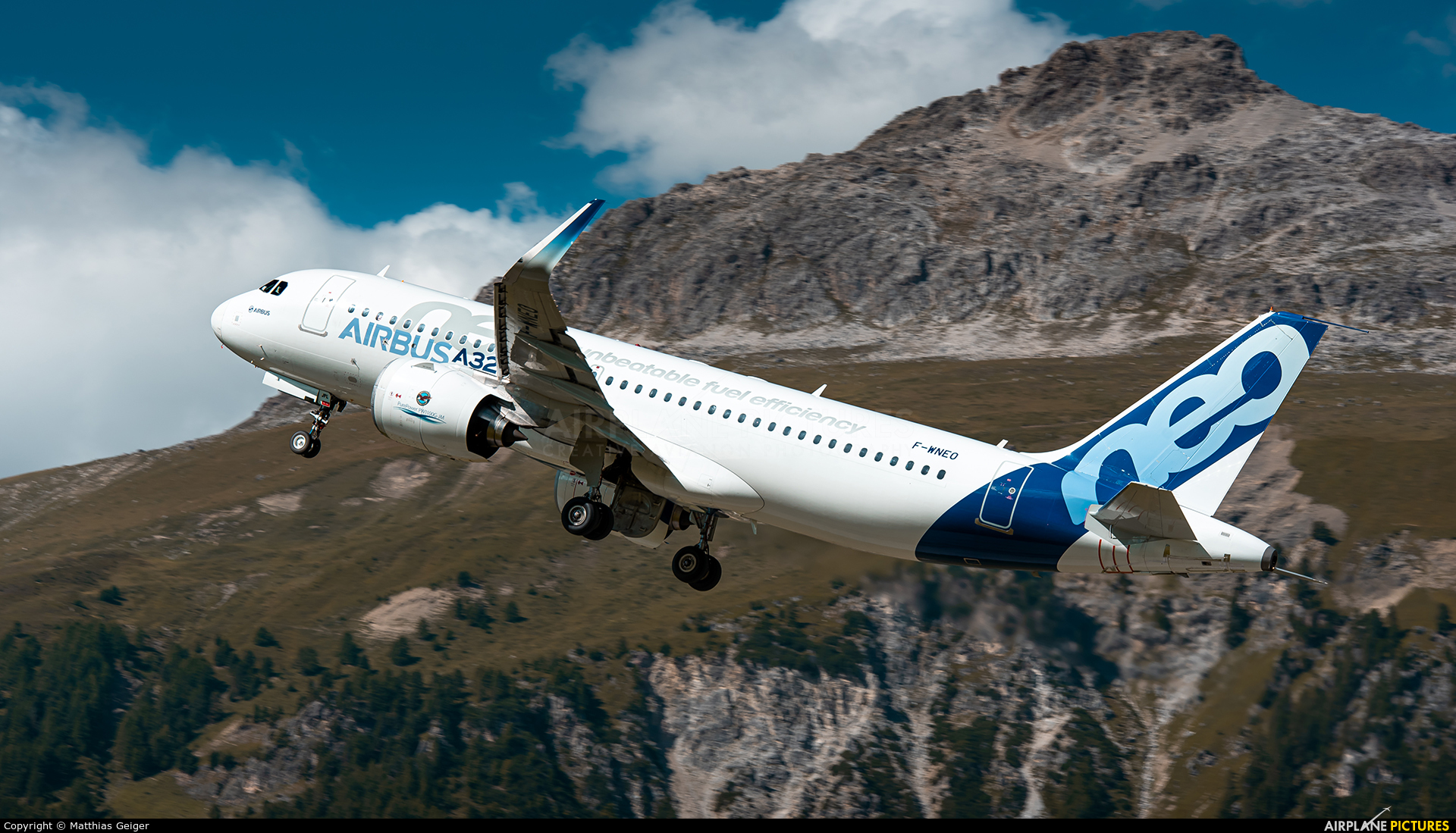 Airbus Industrie F-WNEO aircraft at Samedan - Engadin