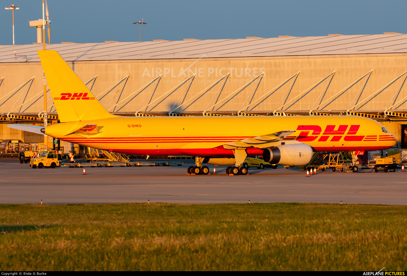 DHL Cargo G-DHKD aircraft at East Midlands