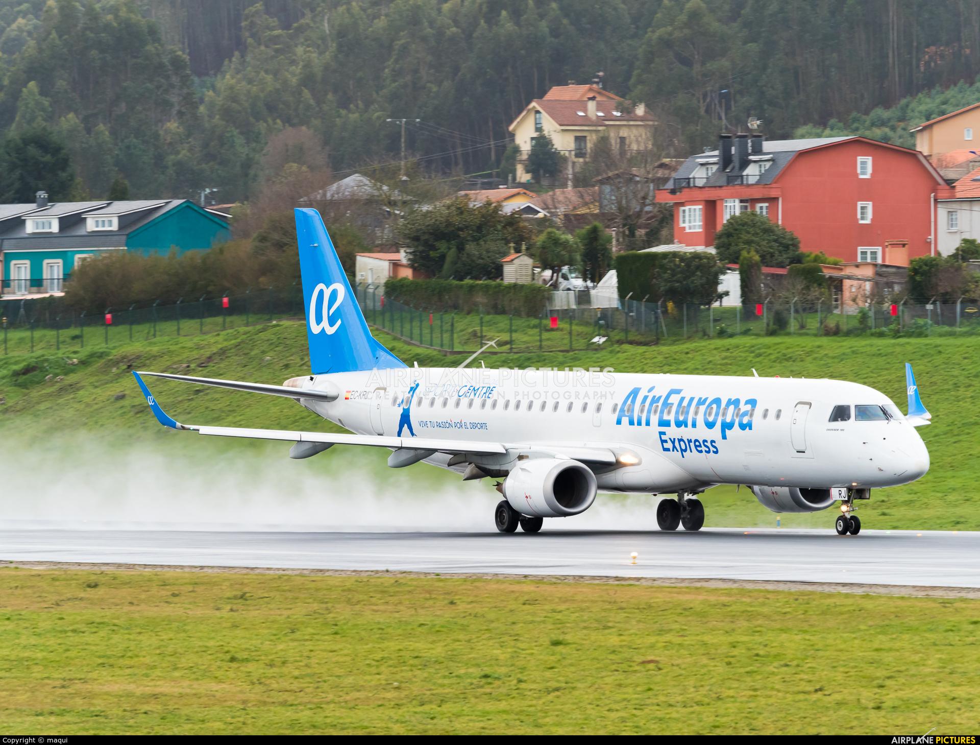 Air Europa Express EC-KRJ aircraft at La Coruña