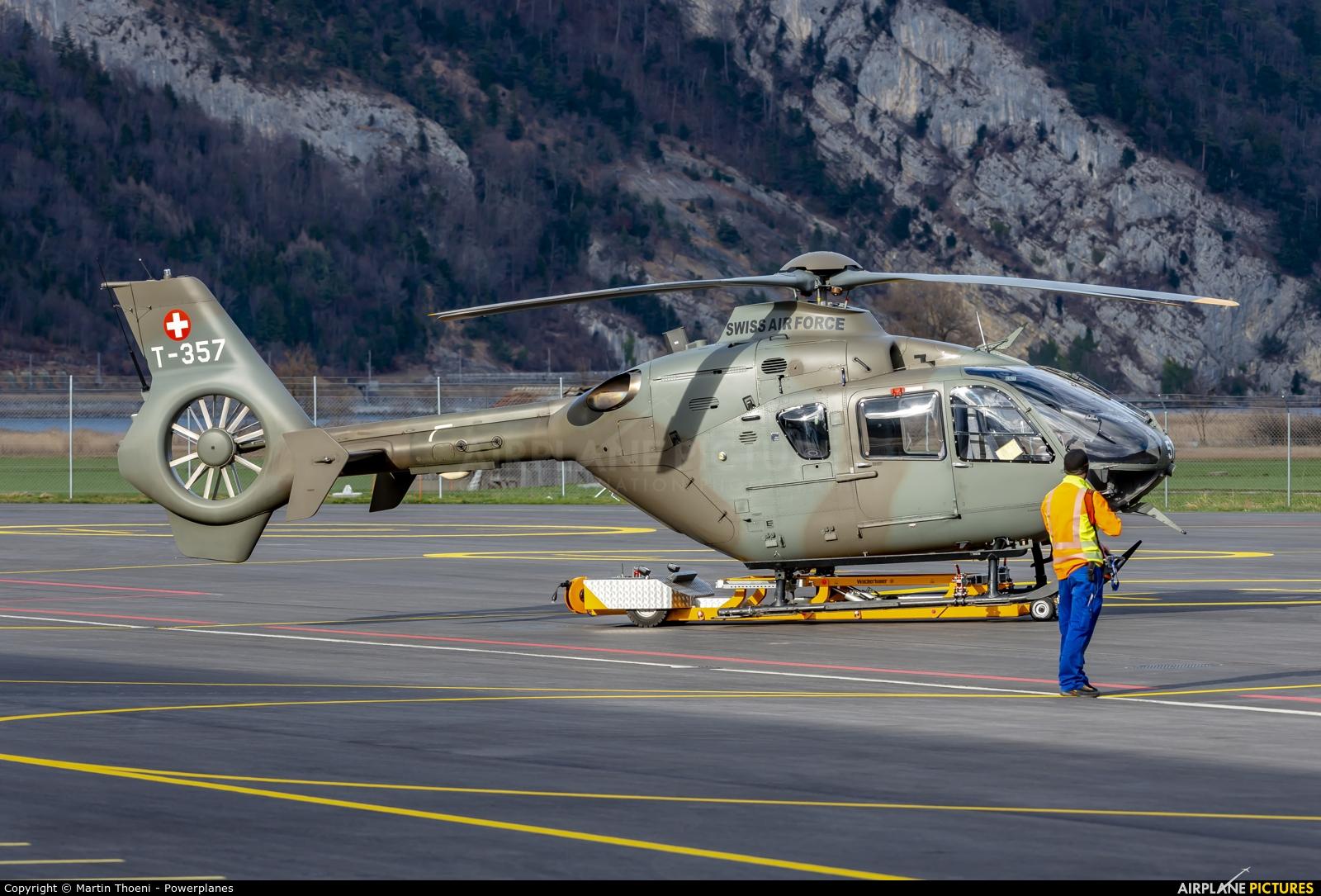 Switzerland - Air Force T-357 aircraft at Alpnach