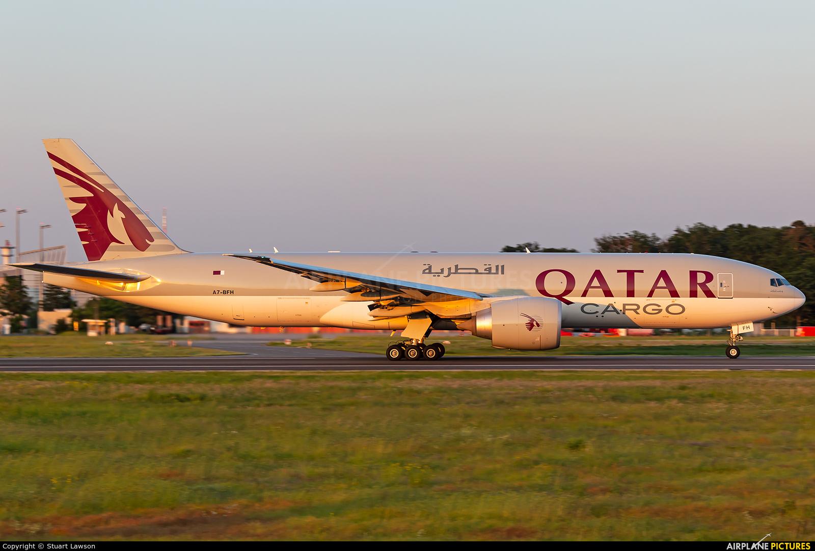Qatar Airways Cargo A7-BFH aircraft at Frankfurt