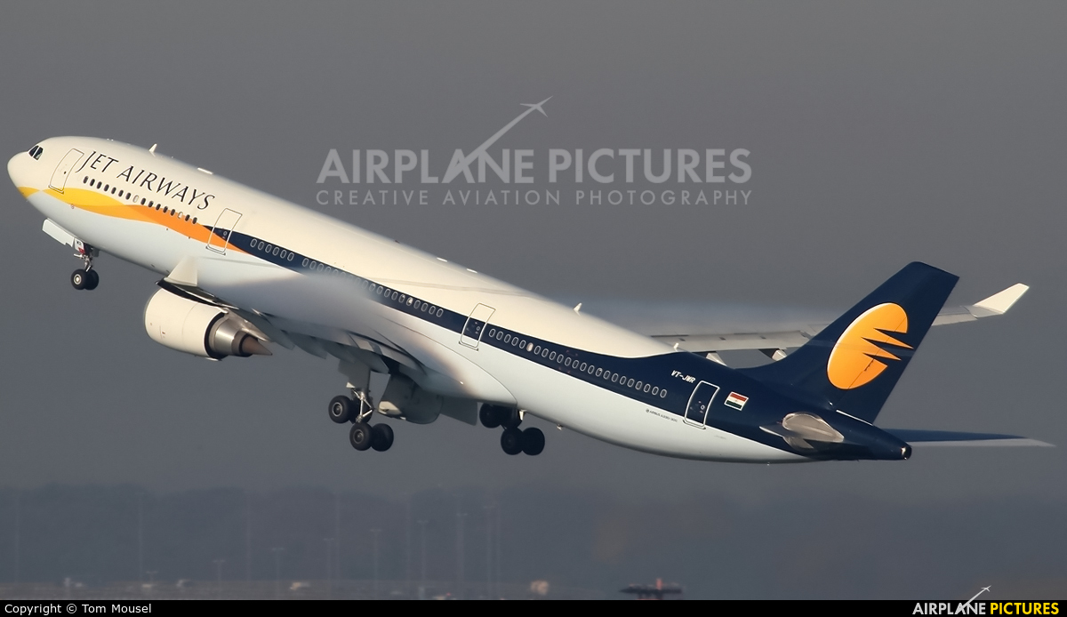 Jet Airways VT-JWR aircraft at Brussels - Zaventem