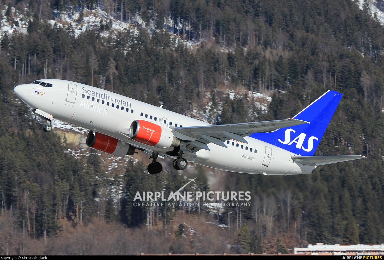 SAS - Scandinavian Airlines SE-RER aircraft at Innsbruck