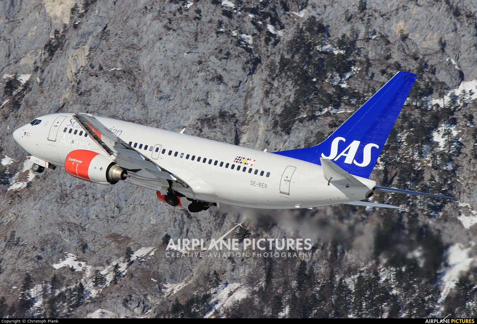 SAS - Scandinavian Airlines SE-RER aircraft at Innsbruck