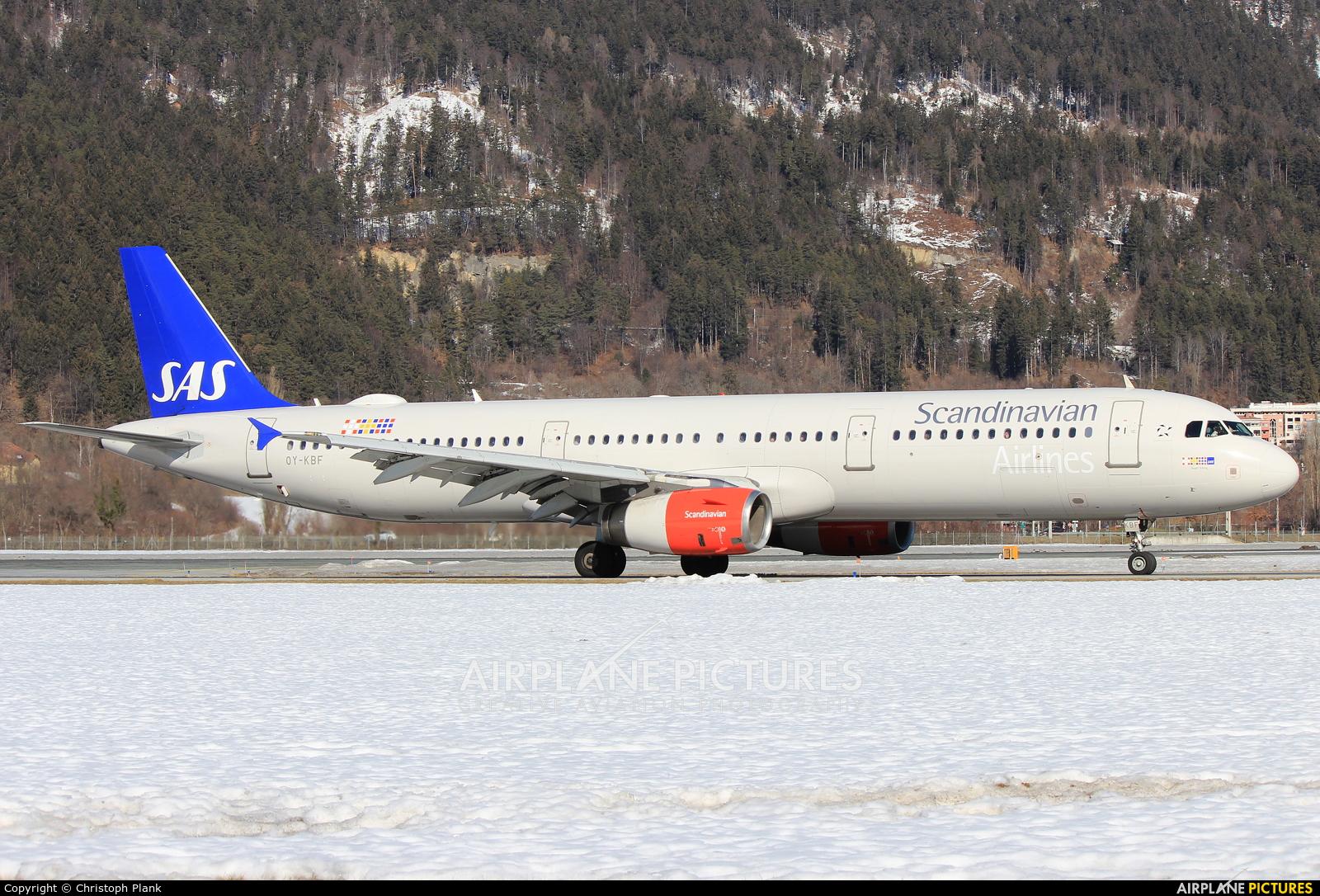 SAS - Scandinavian Airlines OY-KBF aircraft at Innsbruck