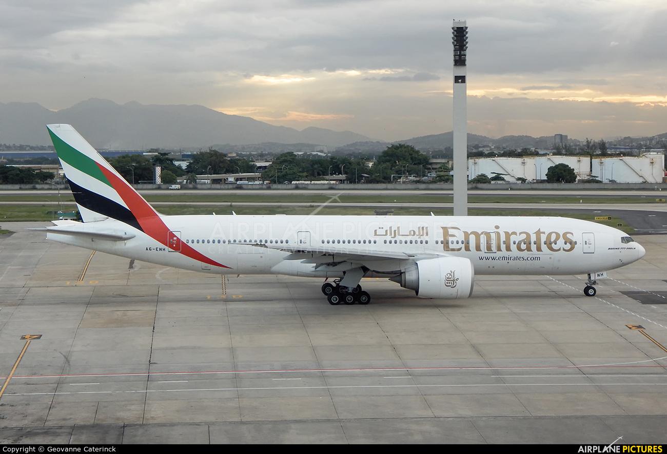 Emirates Airlines A6-EWH aircraft at Rio de Janeiro/Galeão Intl - Antonio Carlos Jobim Airport