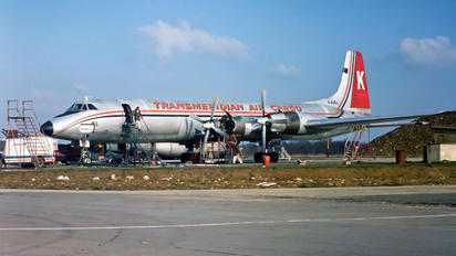 G-AZKJ - Transmeridian Air Cargo Canadair CL-44D4-2