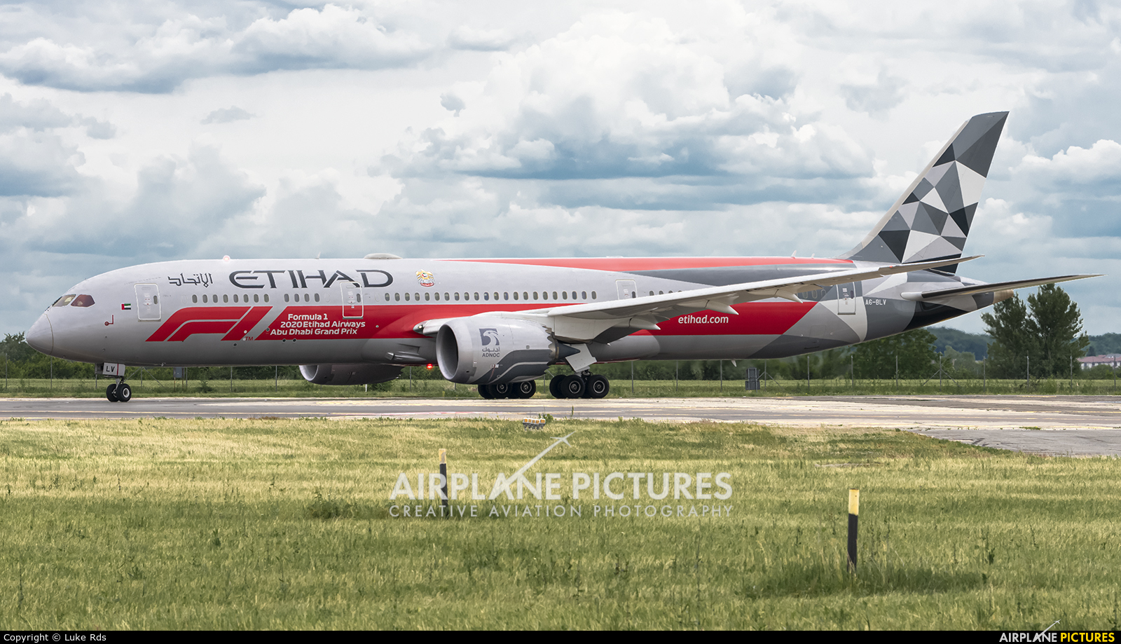 Etihad Airways A6-BLV aircraft at Bucharest - Henri Coandă