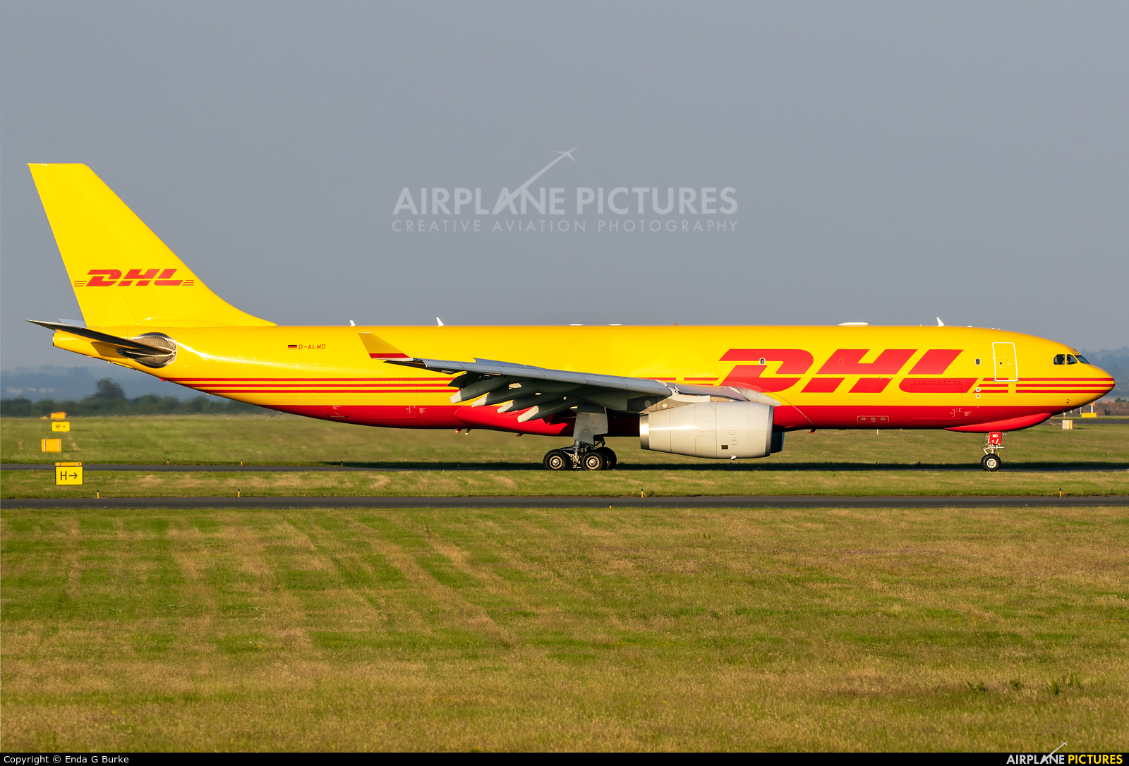 DHL Cargo D-ALMD aircraft at East Midlands