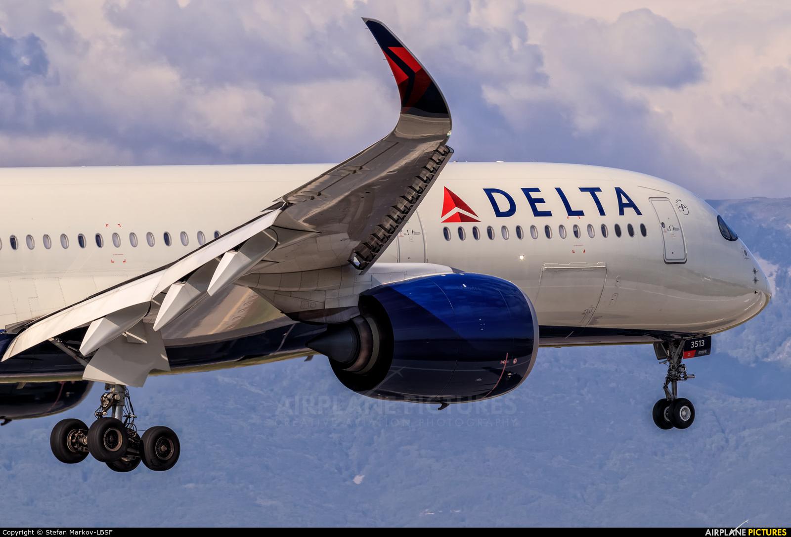 Delta Air Lines N513DZ aircraft at Sofia