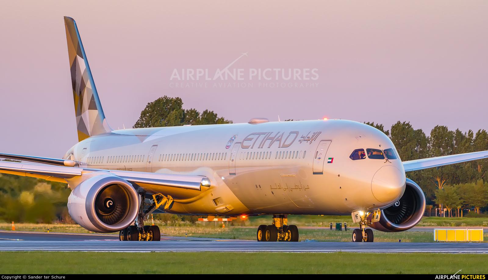 Etihad Airways A6-BMF aircraft at Amsterdam - Schiphol