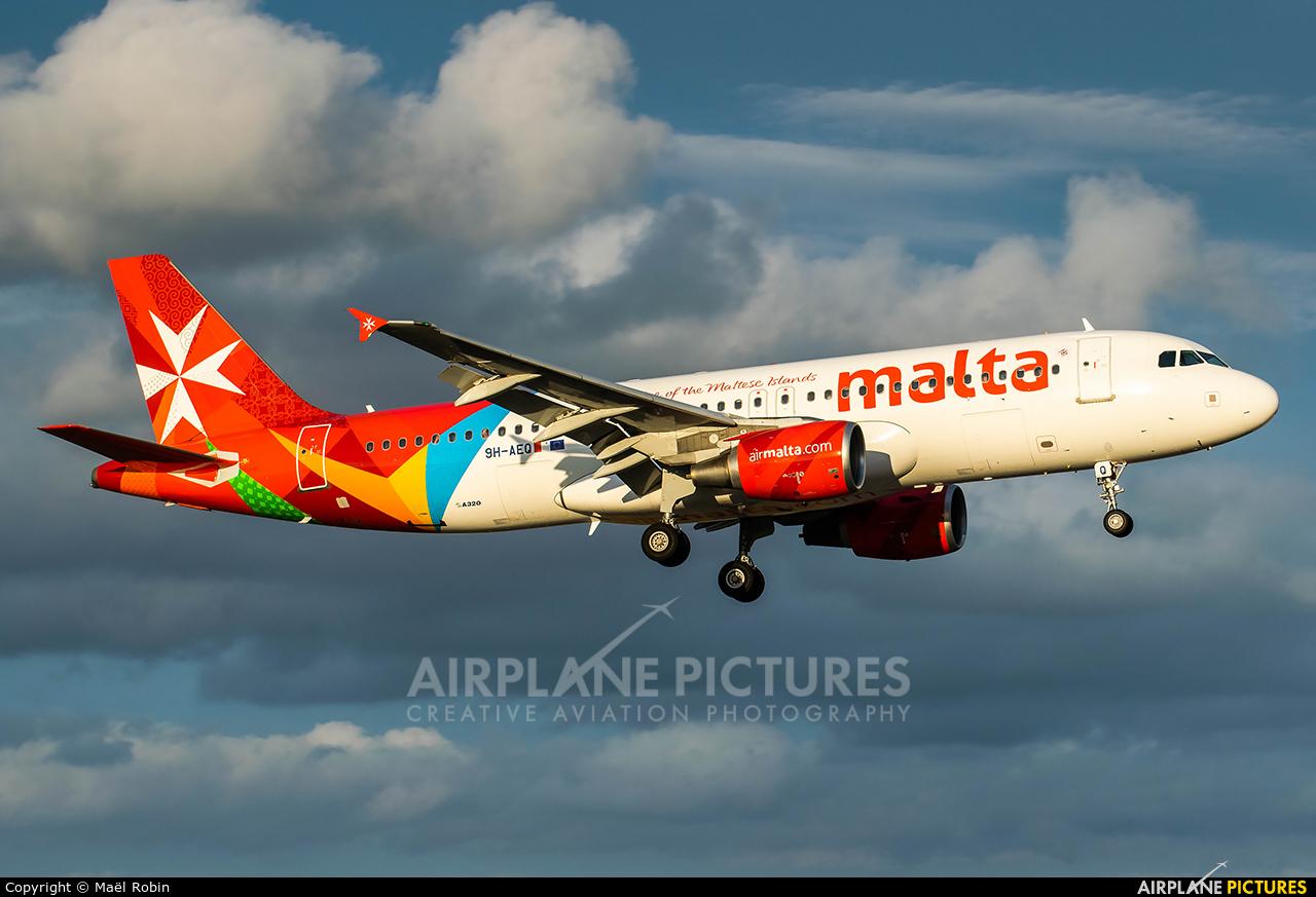 Air Malta 9H-AEQ aircraft at Nantes - Atlantique