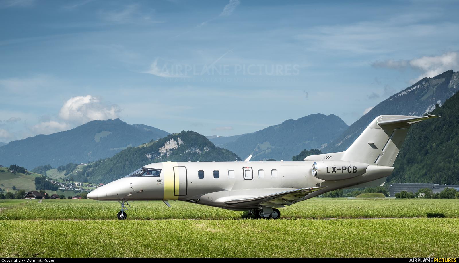 Jetfly Aviation LX-PCB aircraft at Buochs