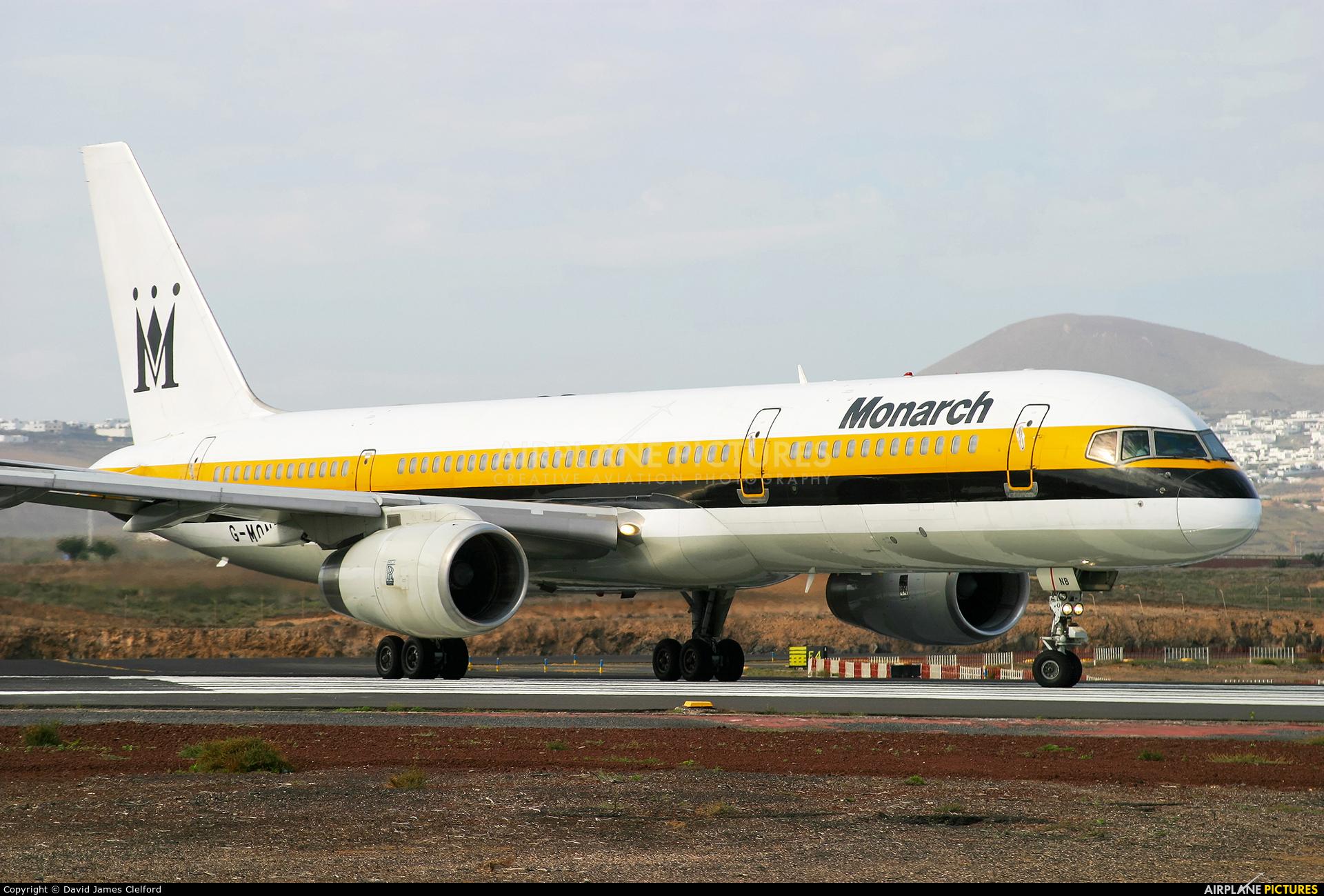 Monarch Airlines G-MONB aircraft at Lanzarote - Arrecife