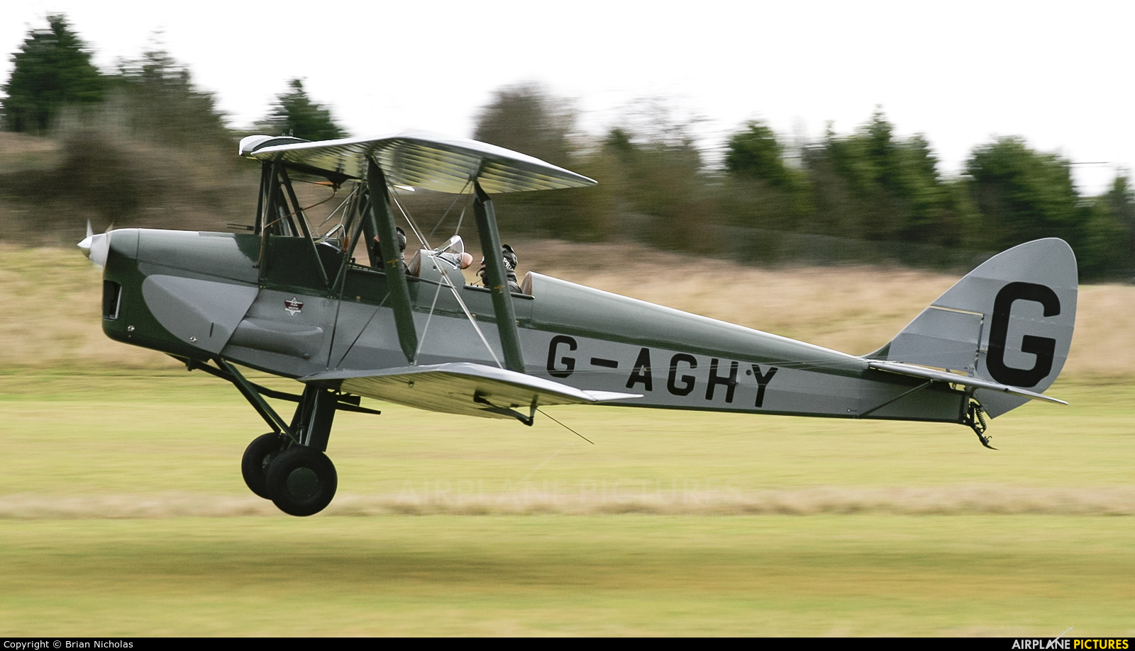 Private G-AGHY aircraft at Popham