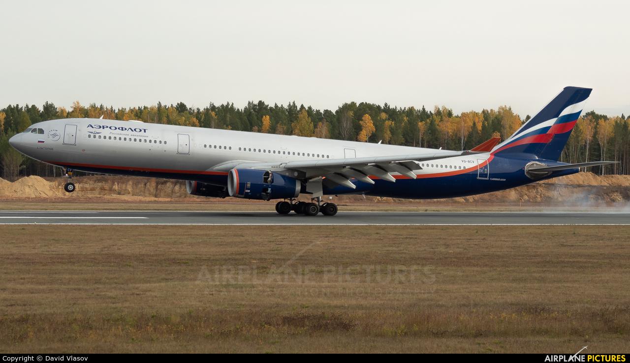 Aeroflot VQ-BCV aircraft at Krasnoyarsk - Yemelyanovo