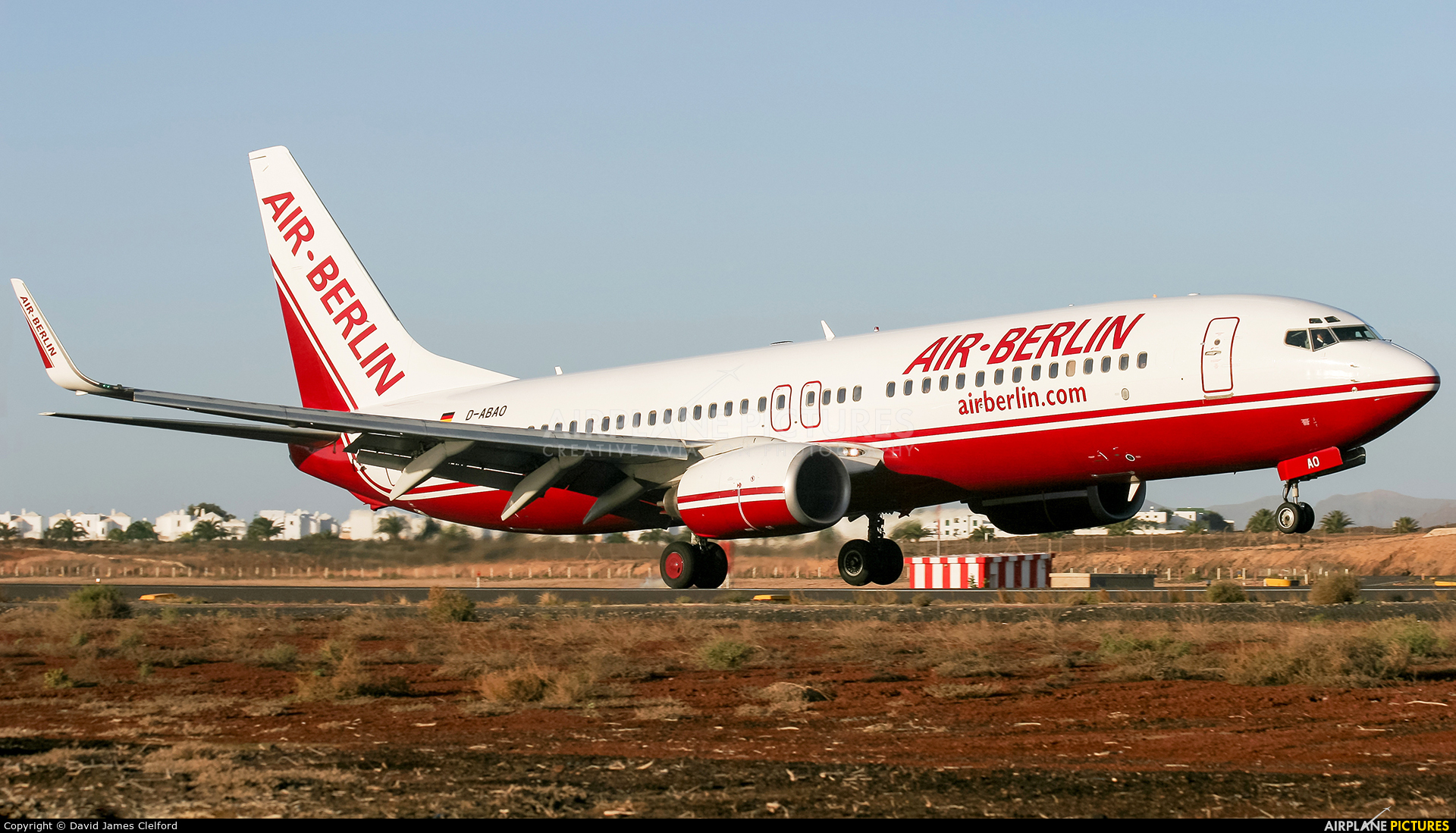 Air Berlin D-ABAO aircraft at Lanzarote - Arrecife