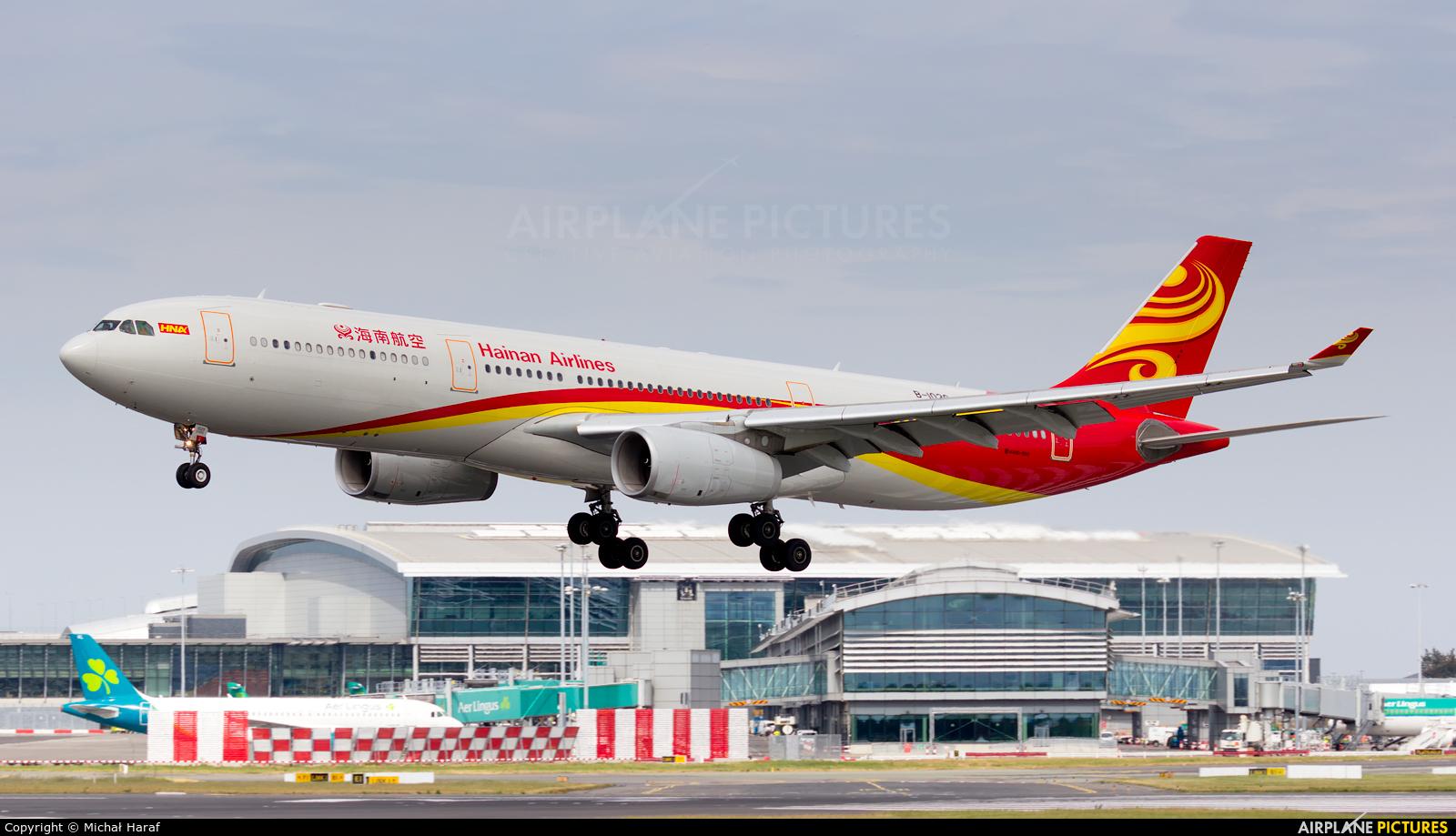 Hainan Airlines B-1020 aircraft at Dublin