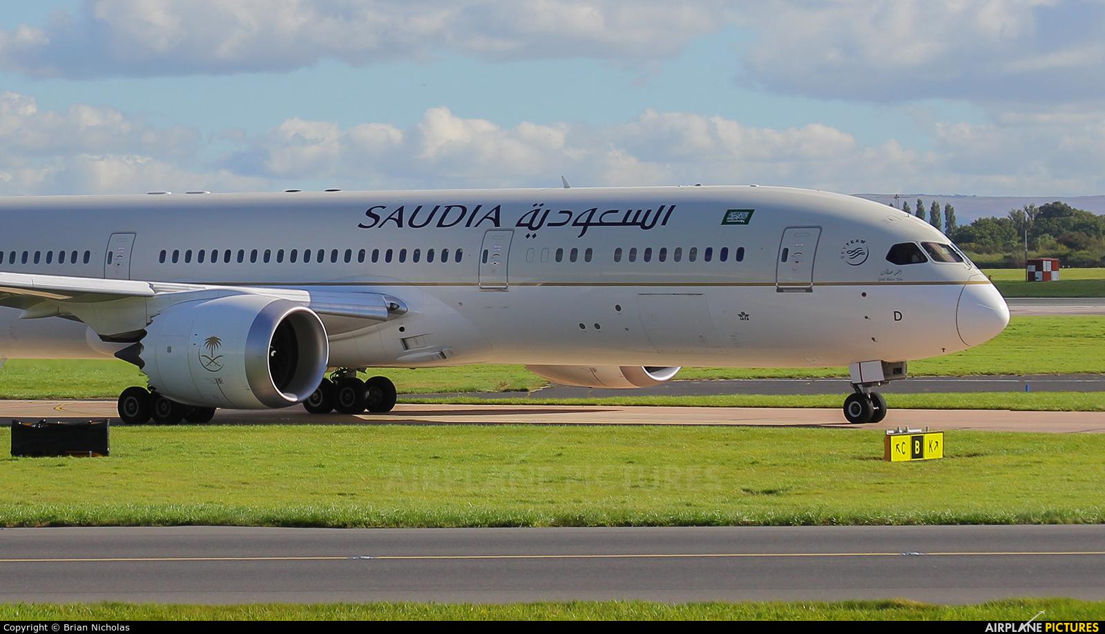 Saudi Arabian Airlines HZ-ARD aircraft at Manchester