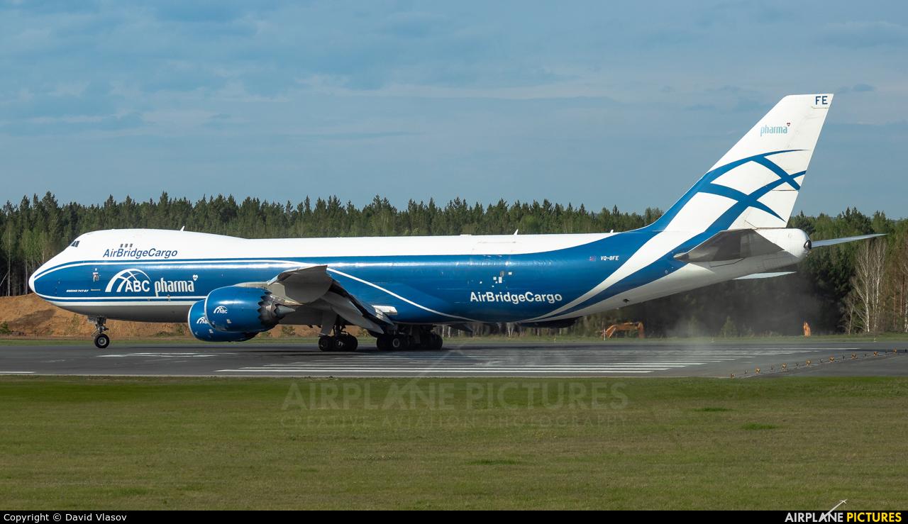 Air Bridge Cargo VQ-BFE aircraft at Krasnoyarsk - Yemelyanovo