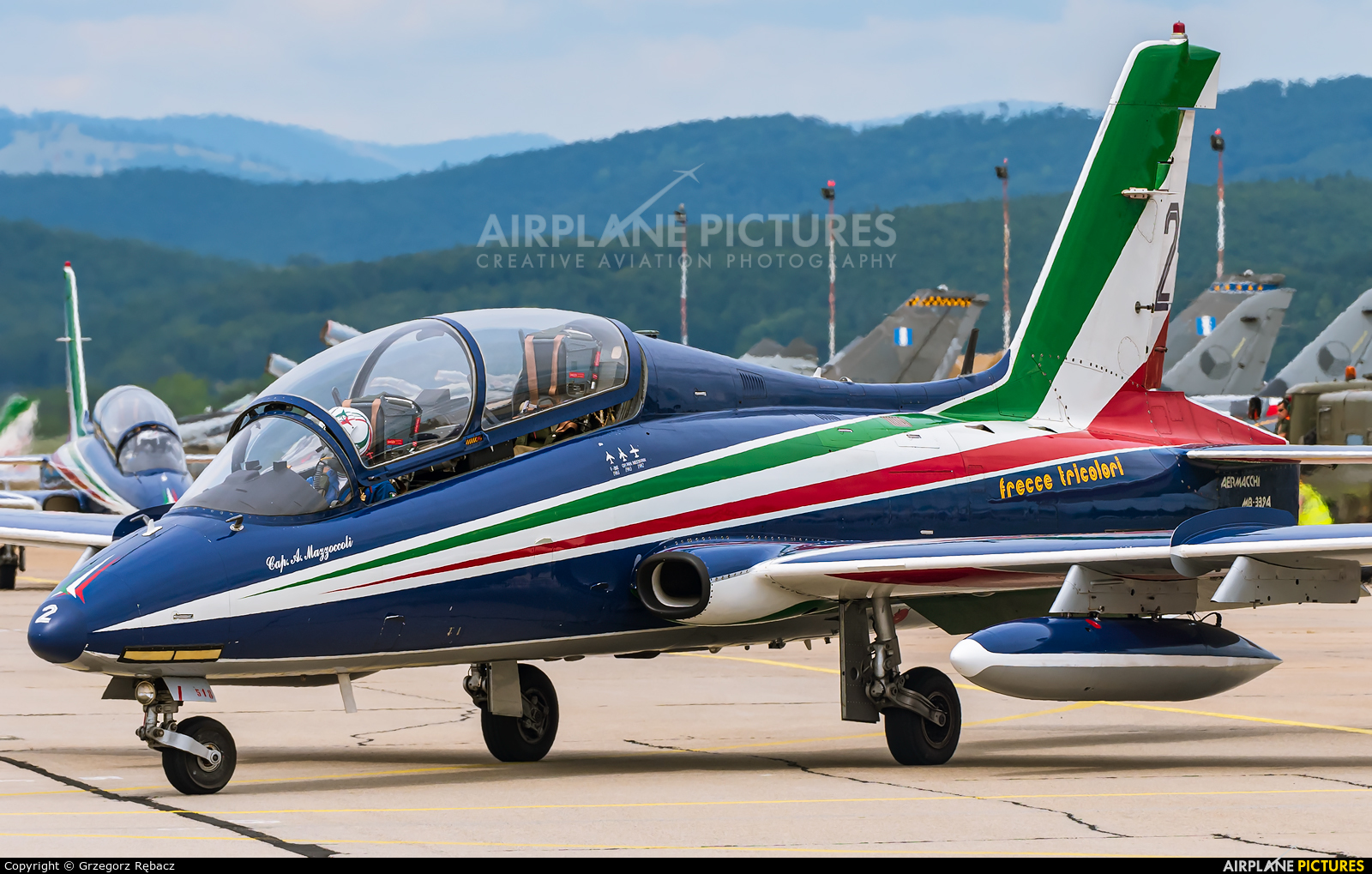 "Italy - Air Force ""Frecce Tricolori"" MB-3394 aircraft at Sliač"