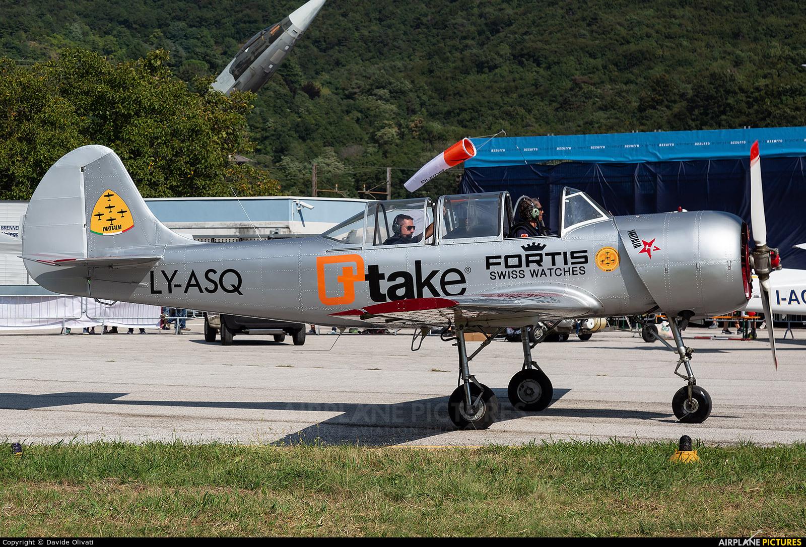 Private LY-ASQ aircraft at Trento - Mattarello