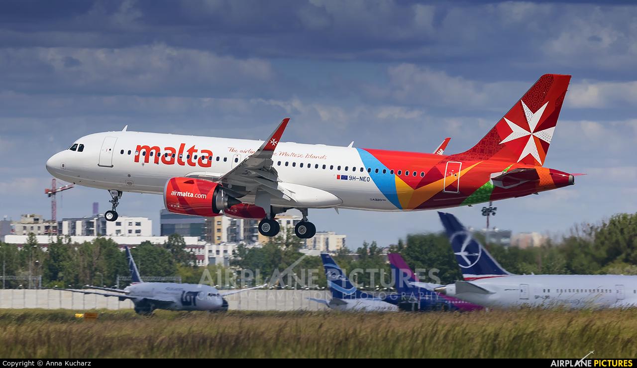 Air Malta 9H-NEO aircraft at Warsaw - Frederic Chopin