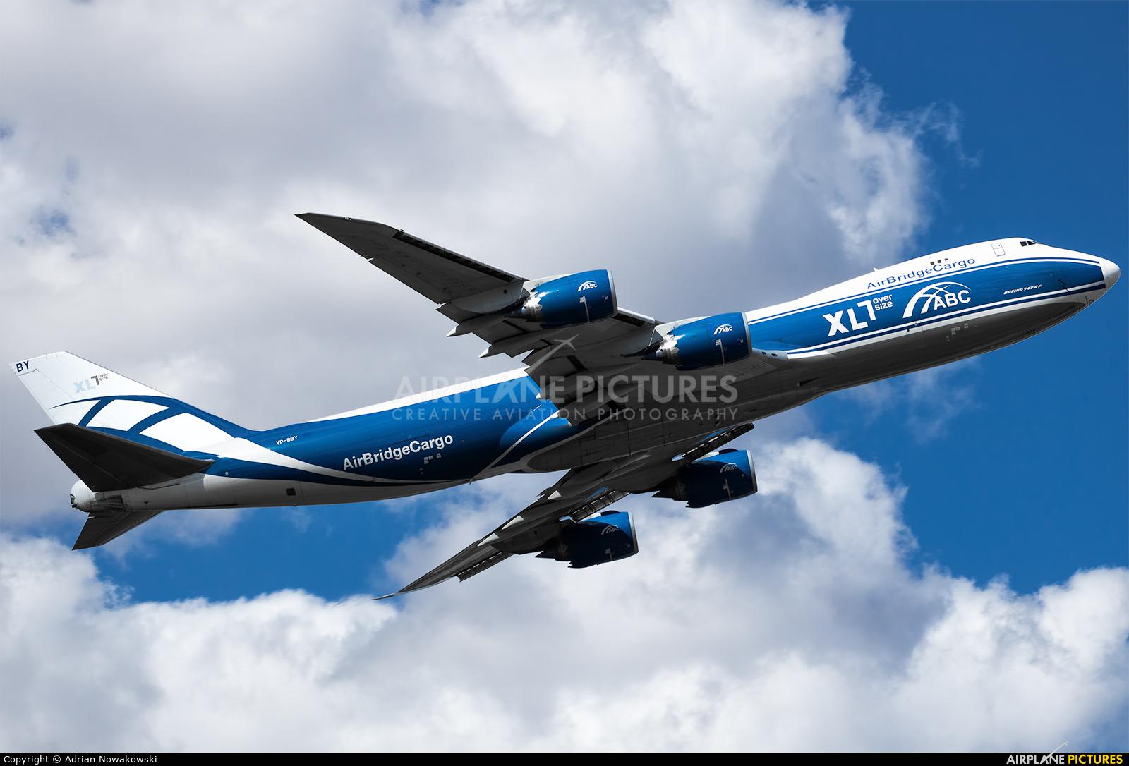 Air Bridge Cargo VP-BBY aircraft at Madrid - Barajas