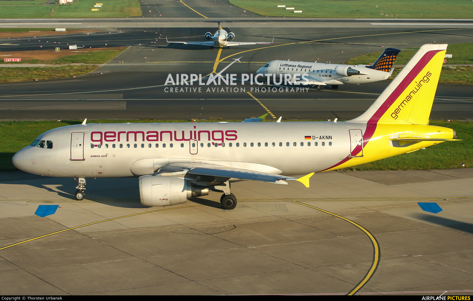 Germanwings D-AKNN aircraft at Düsseldorf
