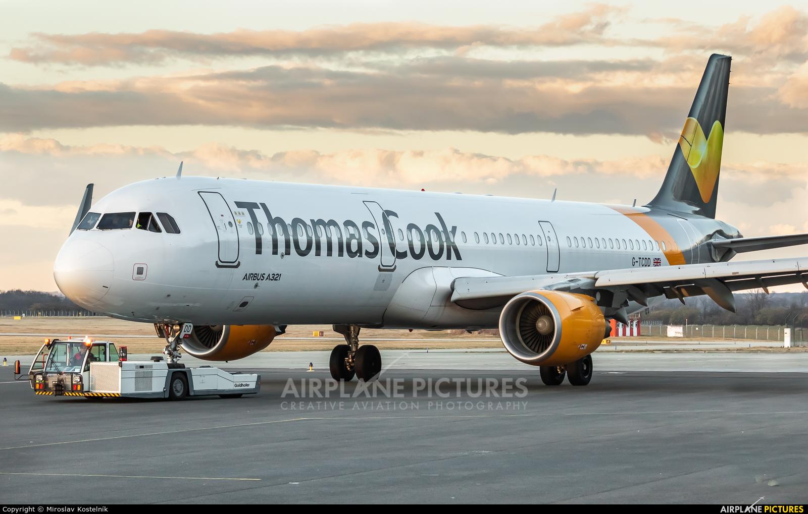 Thomas Cook G-TCDD aircraft at Ostrava Mošnov