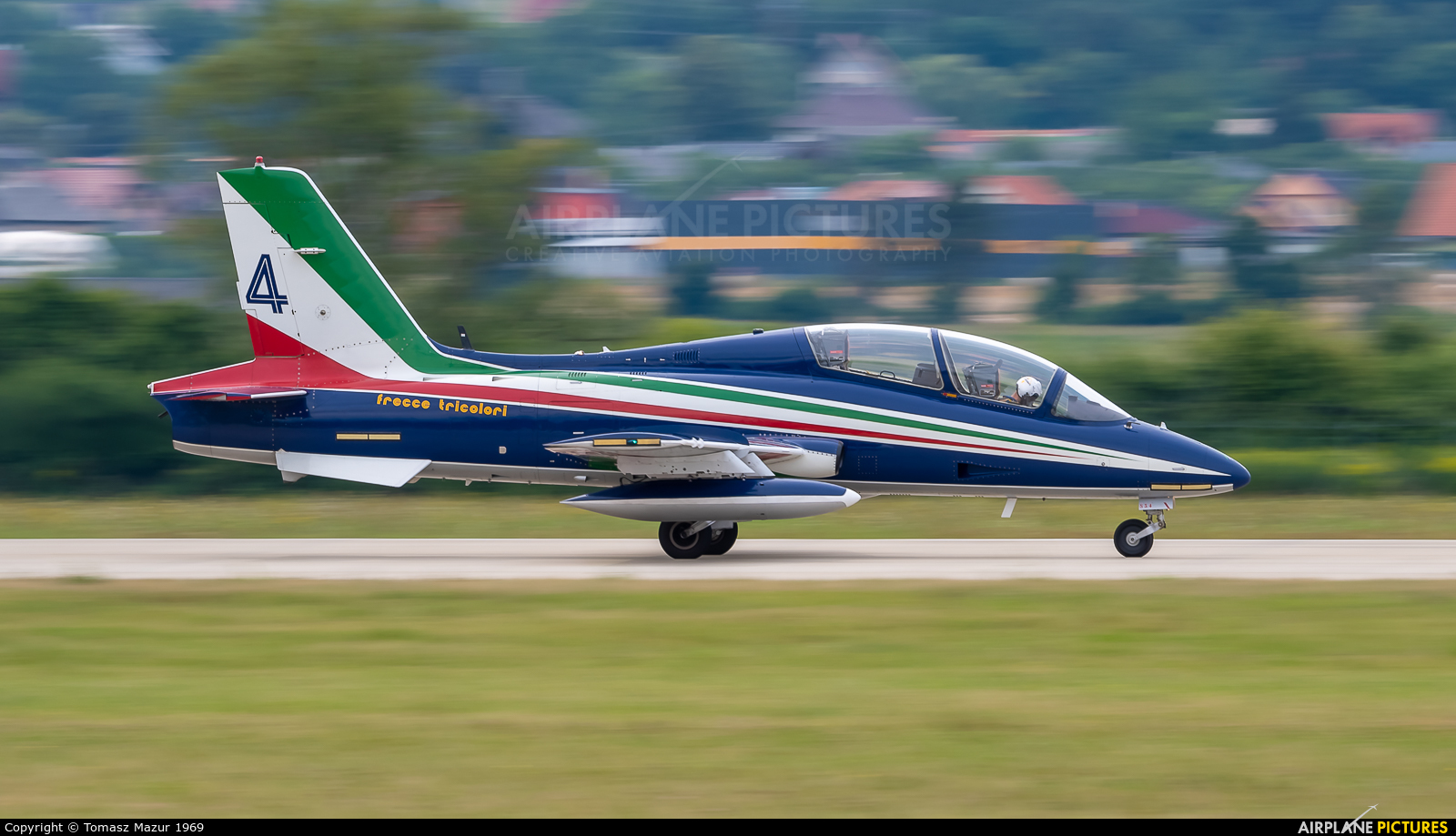 "Italy - Air Force ""Frecce Tricolori"" 4 aircraft at Sliač"
