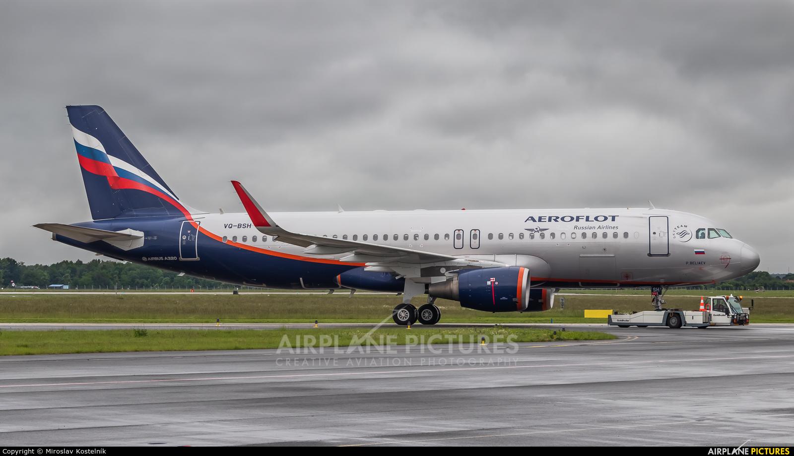 Aeroflot VQ-BSH aircraft at Ostrava Mošnov