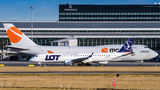 LOT - Polish Airlines Embraer ERJ-195 (190-200) SP-LNP at Warsaw - Frederic Chopin airport