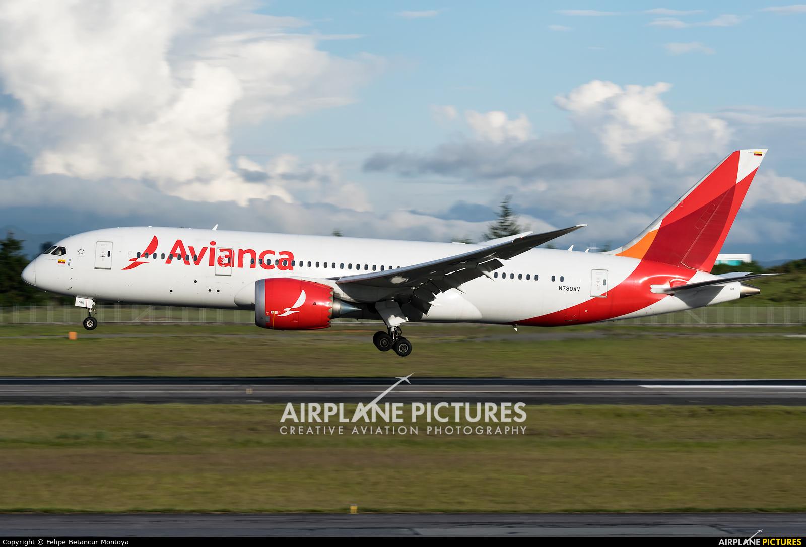 Avianca N780AV aircraft at Medellin - Jose Maria Cordova Intl