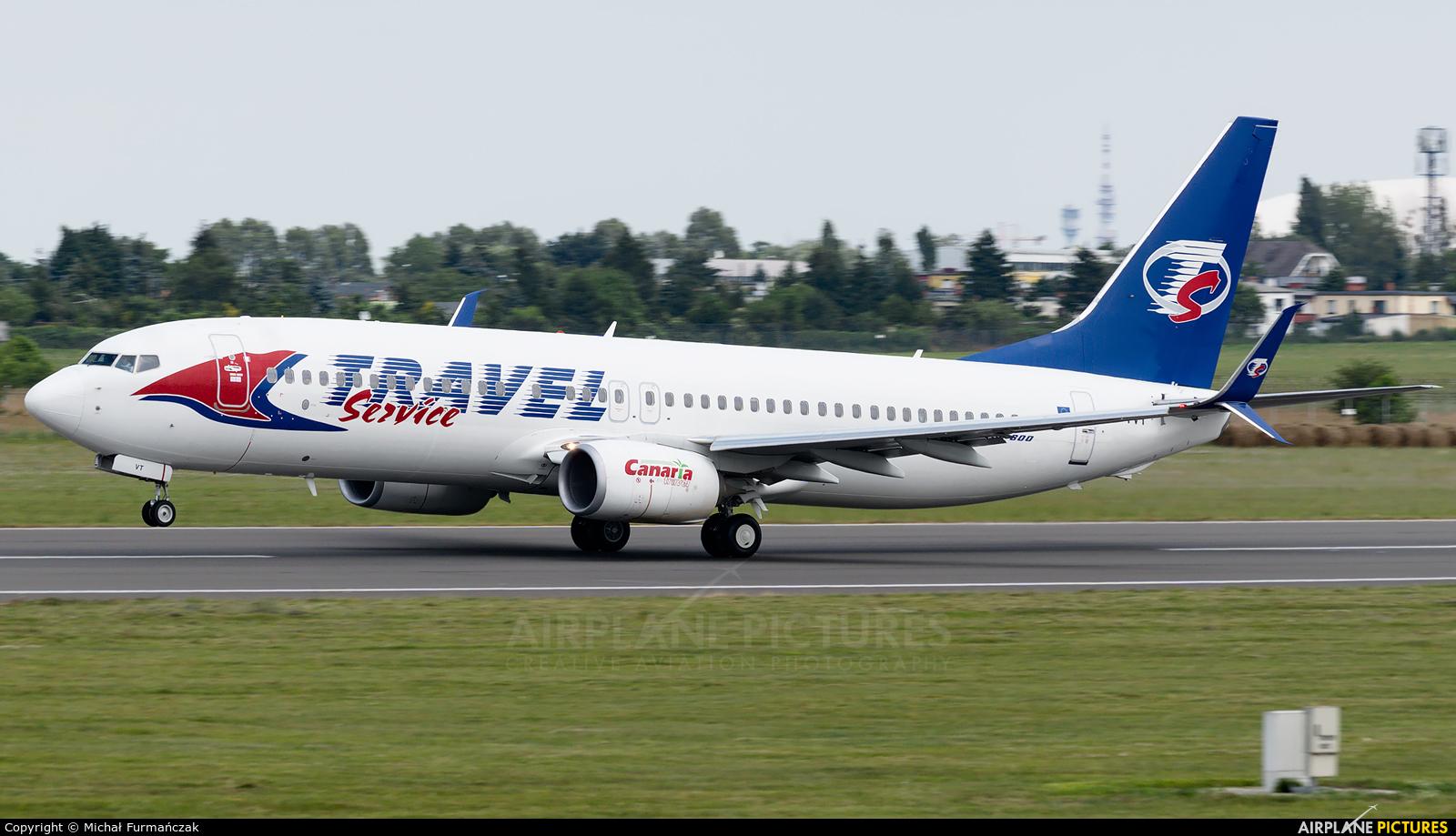 Travel Service OK-TVT aircraft at Poznań - Ławica