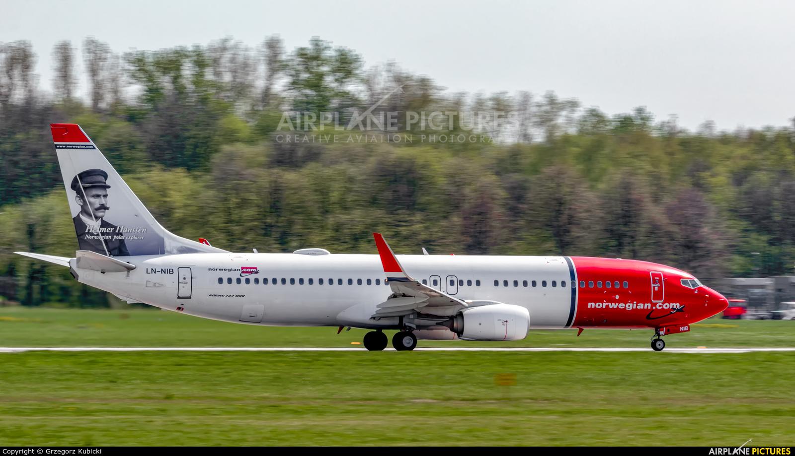 Norwegian Air Shuttle LN-NIB aircraft at Kraków - John Paul II Intl