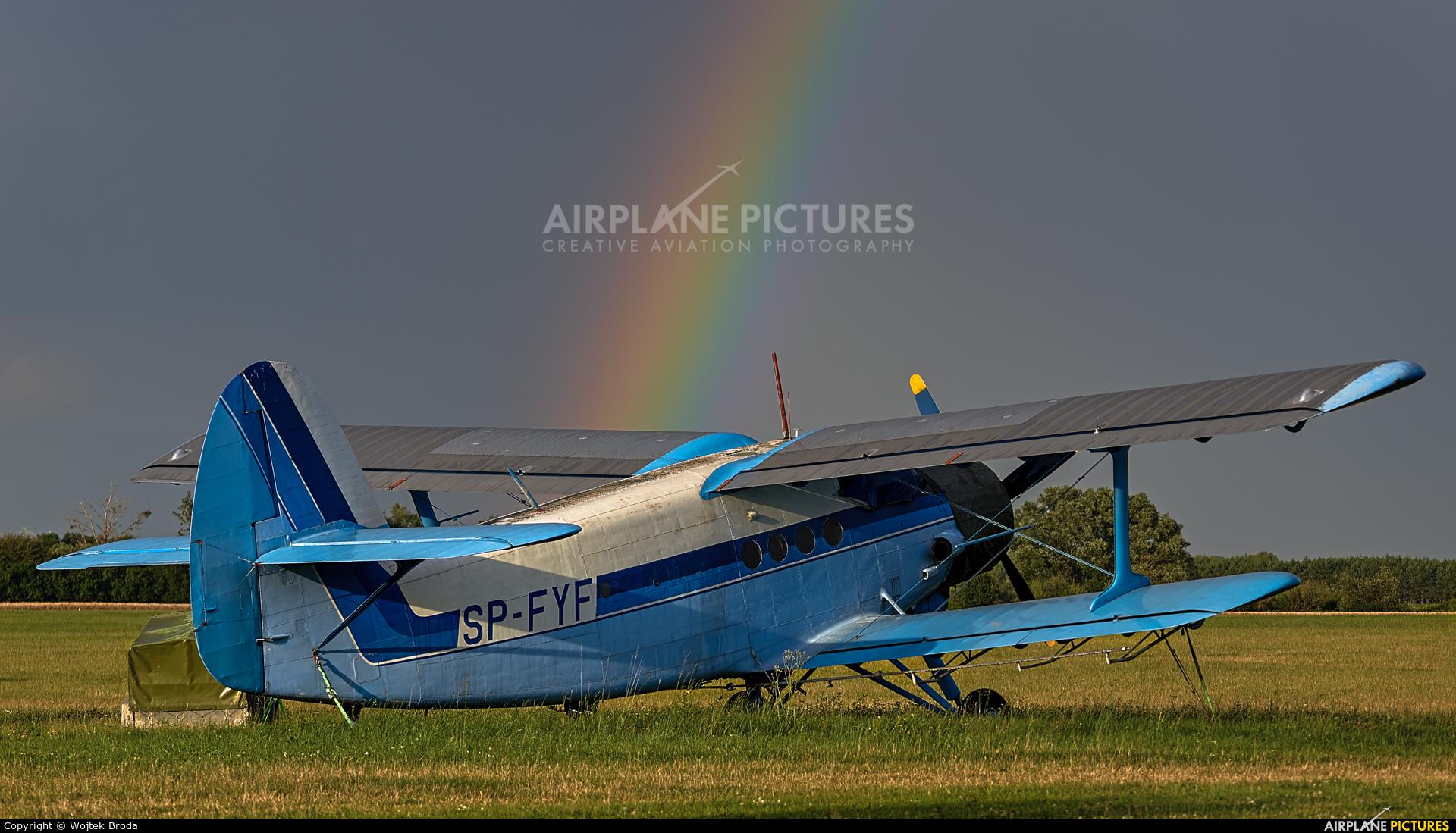 Private SP-FYF aircraft at Wrocław - Szymanów