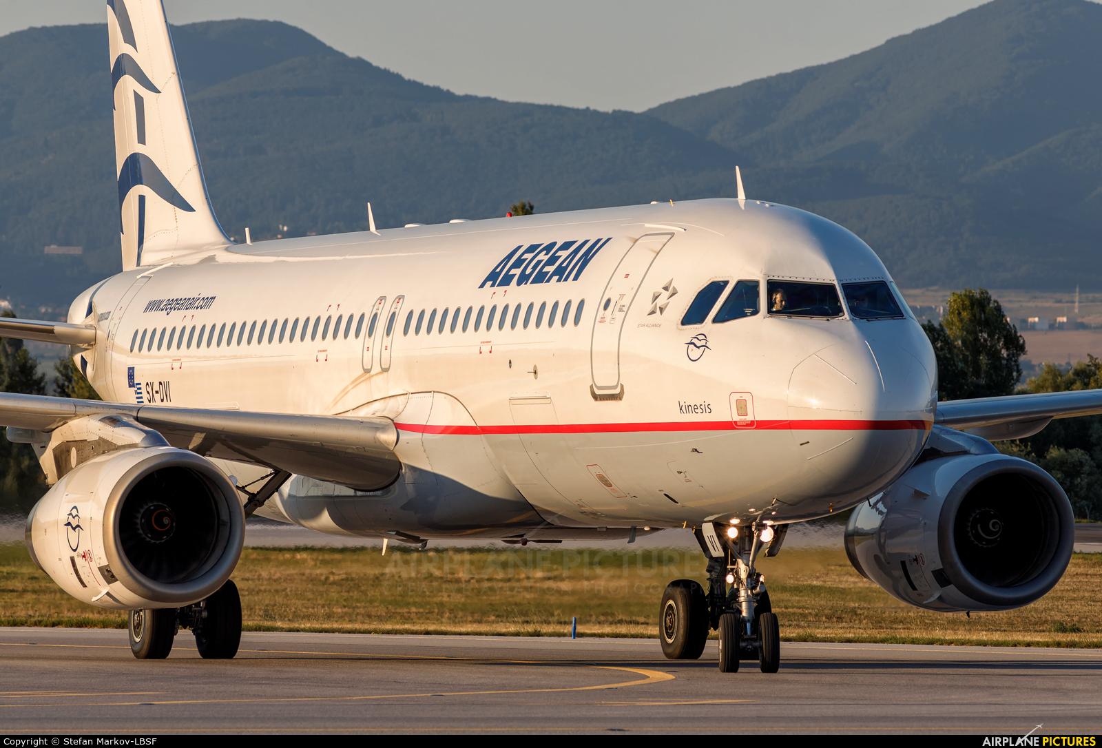 Aegean Airlines SX-DVI aircraft at Sofia