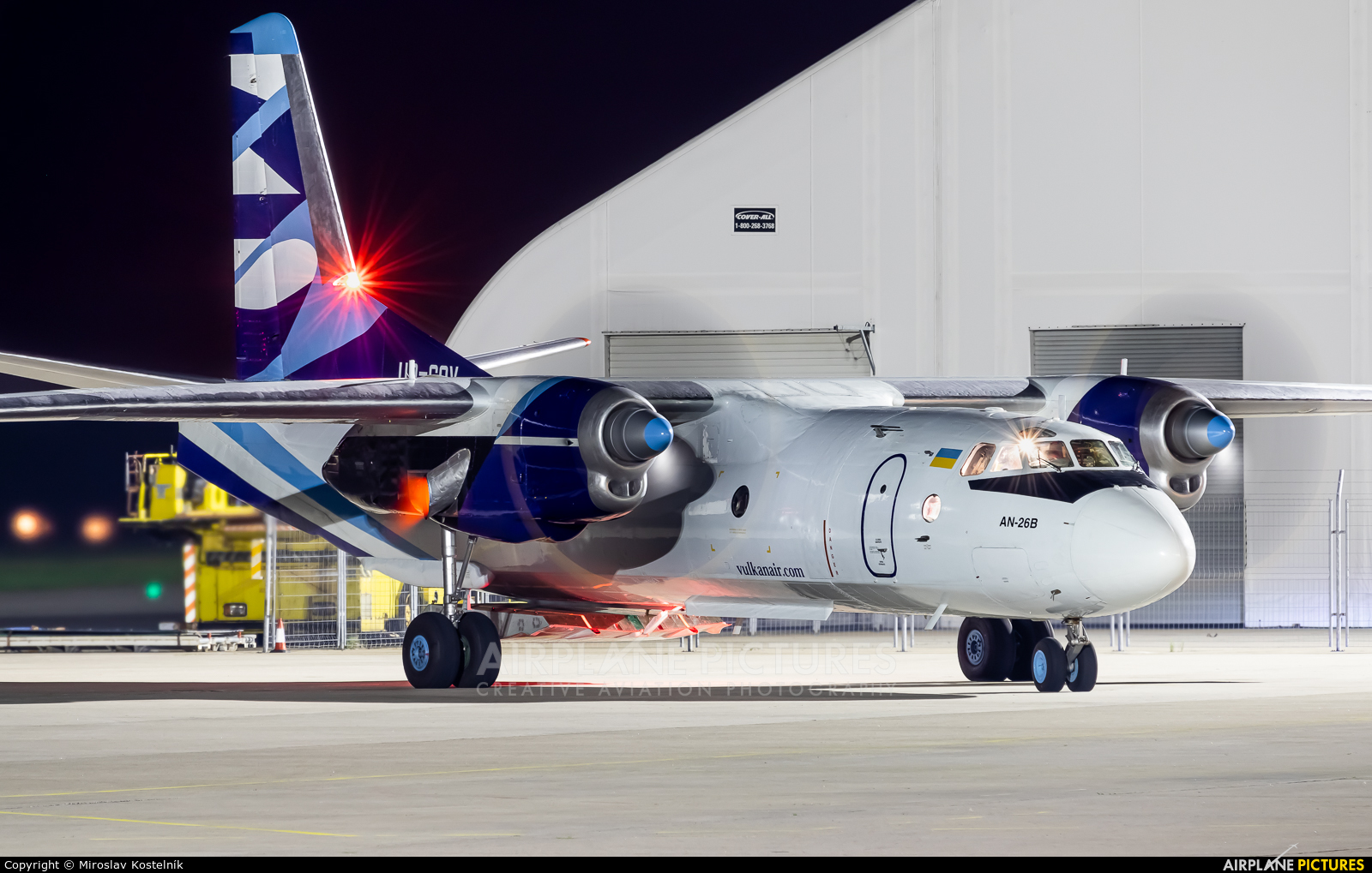 Vulkan Air UR-CQV aircraft at Ostrava Mošnov