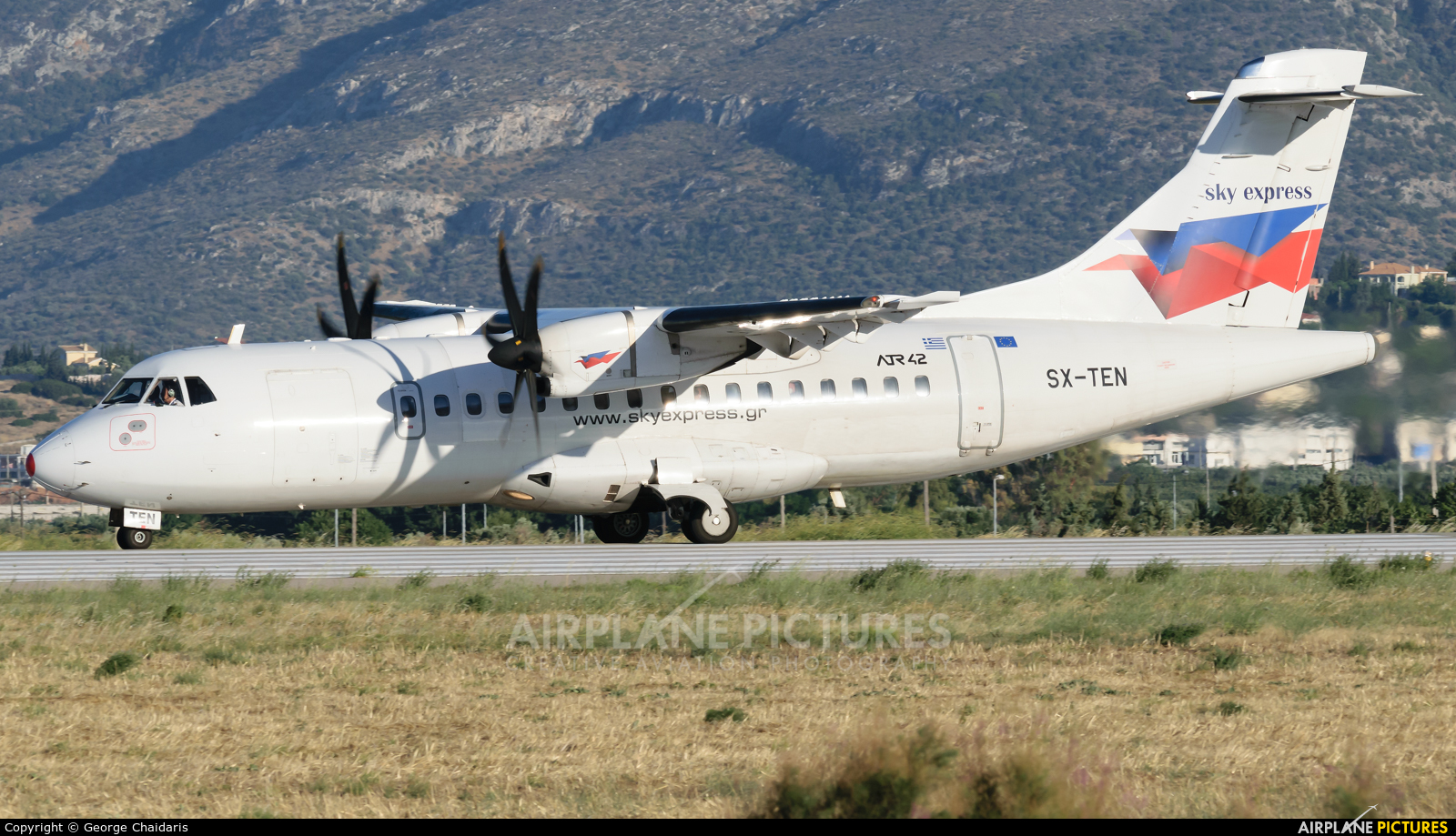 Sky Express SX-TEN aircraft at Athens - Eleftherios Venizelos