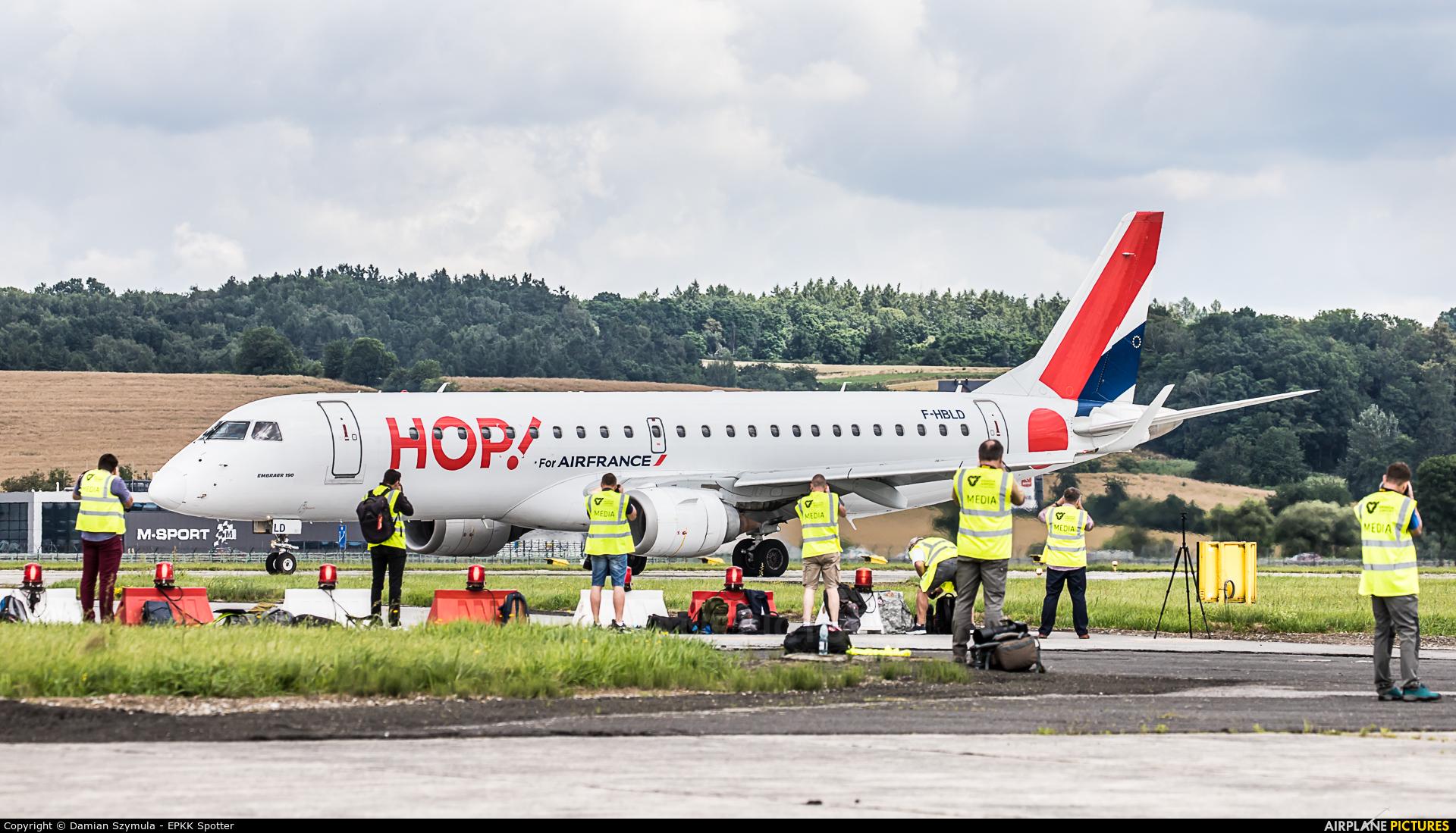 Air France - Hop! F-HBLD aircraft at Kraków - John Paul II Intl