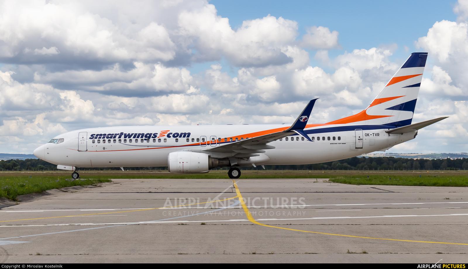 SmartWings OK-TVR aircraft at Ostrava Mošnov