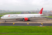 Royal Flight Boeing 777 at Mumbai Airport title=