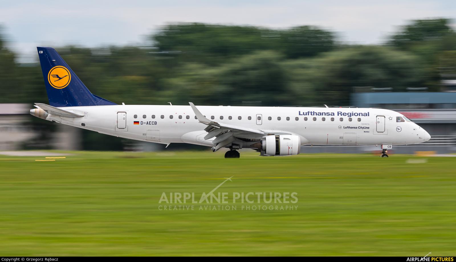 Lufthansa Regional - CityLine D-AECB aircraft at Kraków - John Paul II Intl