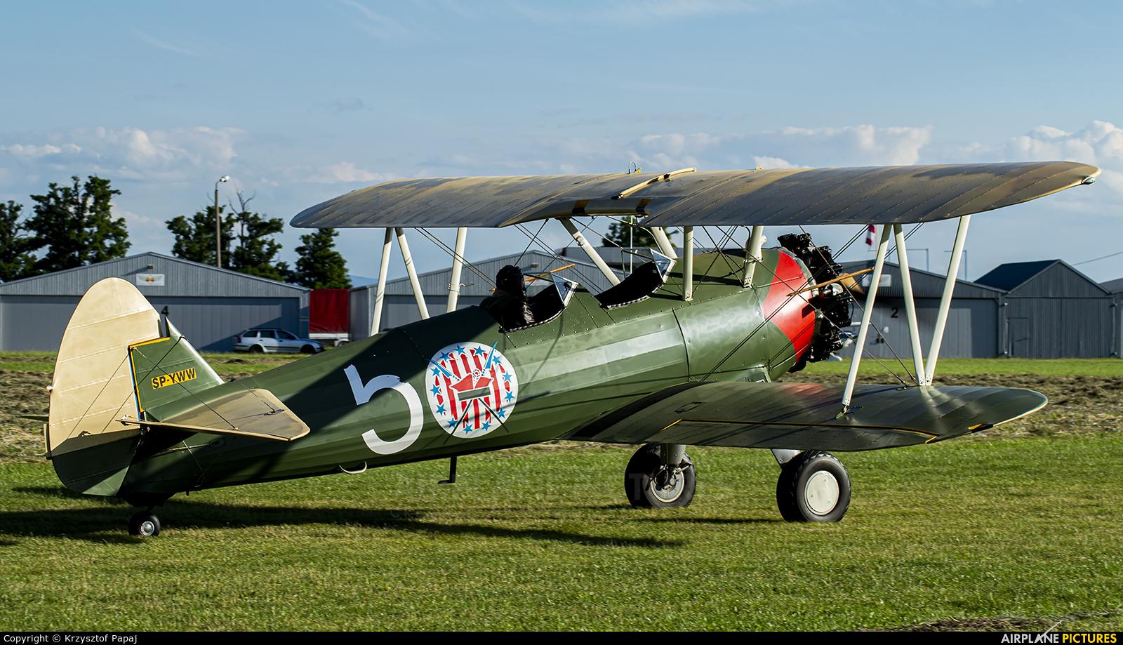Private SP-YWW aircraft at Kraków - Pobiednik Wielki