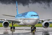 Korean Air Airbus A330 visited Ostrava title=