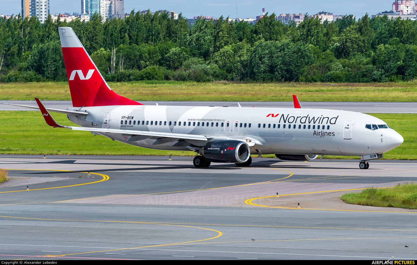 Nordwind Airlines VP-BOW aircraft at St. Petersburg - Pulkovo