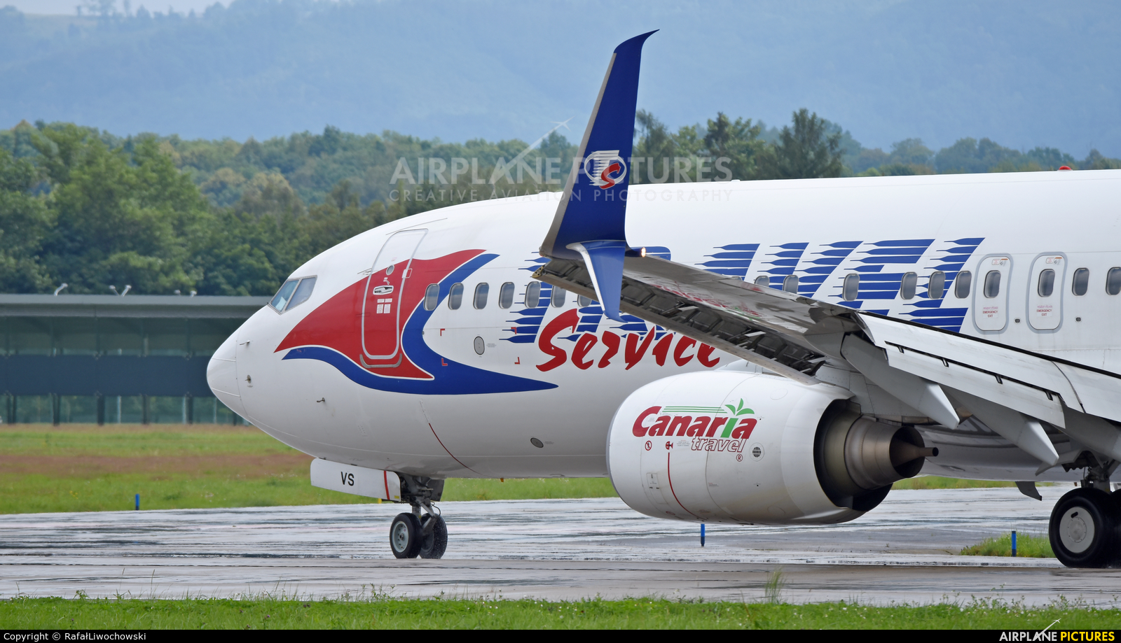 Travel Service OK-TVS aircraft at Ostrava Mošnov